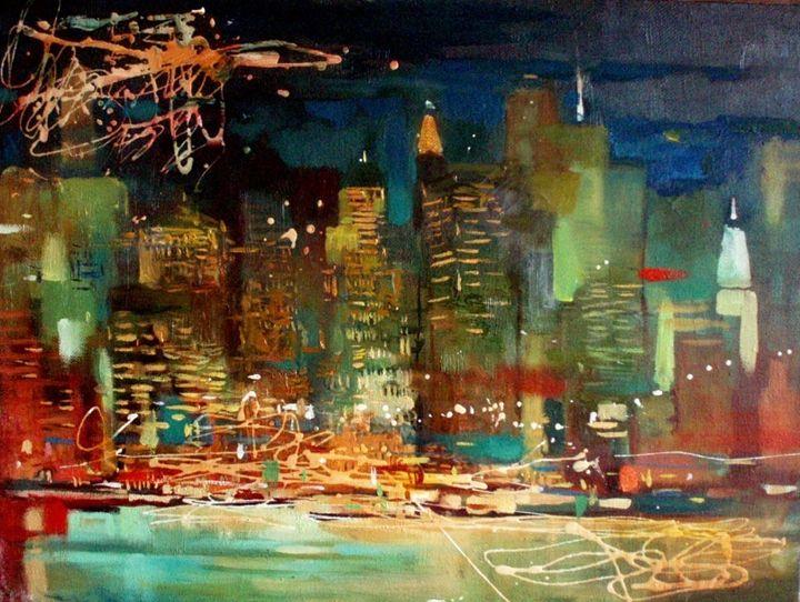 "Chistyakova A. ""New York night"" - Online art gallery. Ukraine artists"