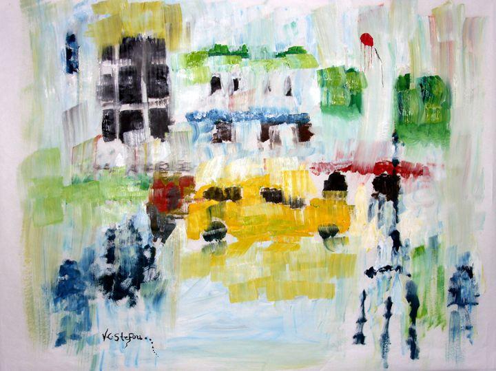 n.y.c. rain - vania stefou art