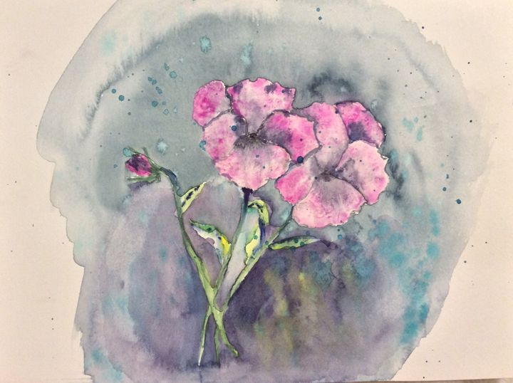 Lively Pansies - Robin Engel's Watercolors
