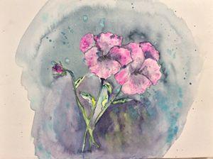 Lively Pansies - Robin Engel's Watercolors