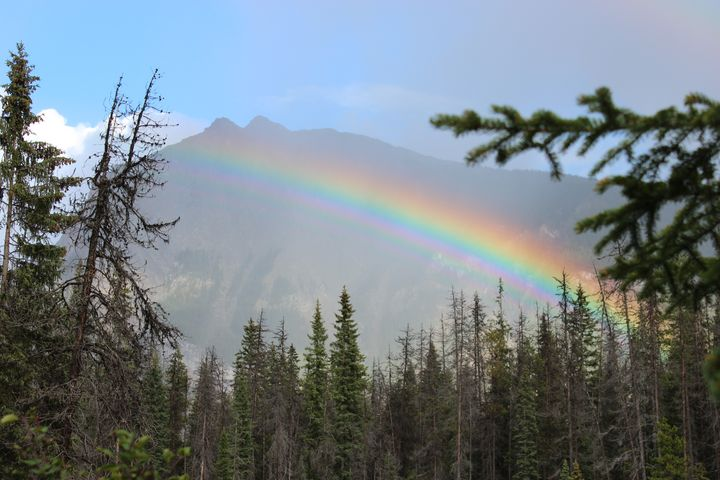 The rainbow and the mountain - Ravens Real Life Gallery