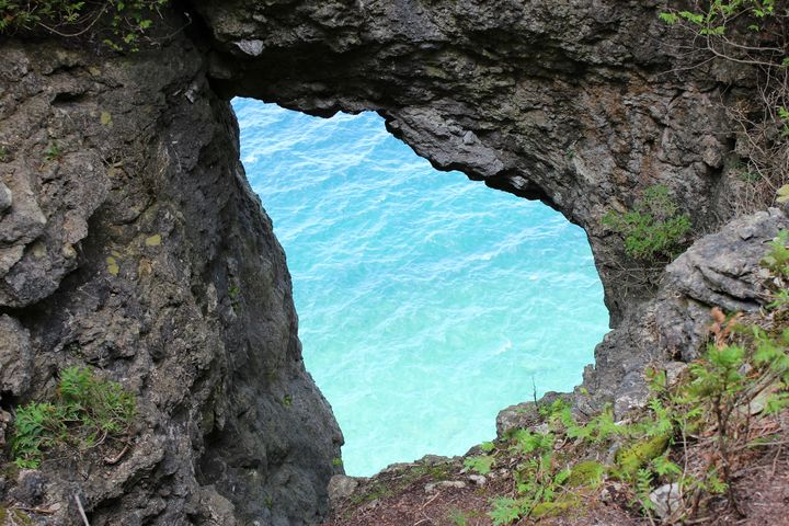 View through a rock - Ravens Real Life Gallery