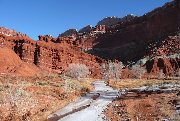 Snowy river in Red Canyon - Brian Shaw