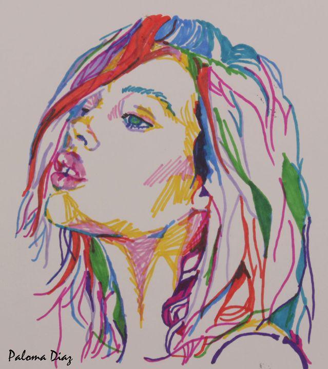 marker portrait - Paloma Diaz Art