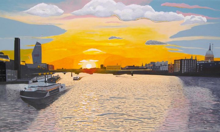 Sunset on the River Thames - braum's work