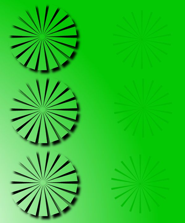 Abstract Flowers On Green - KnKSTUDIO