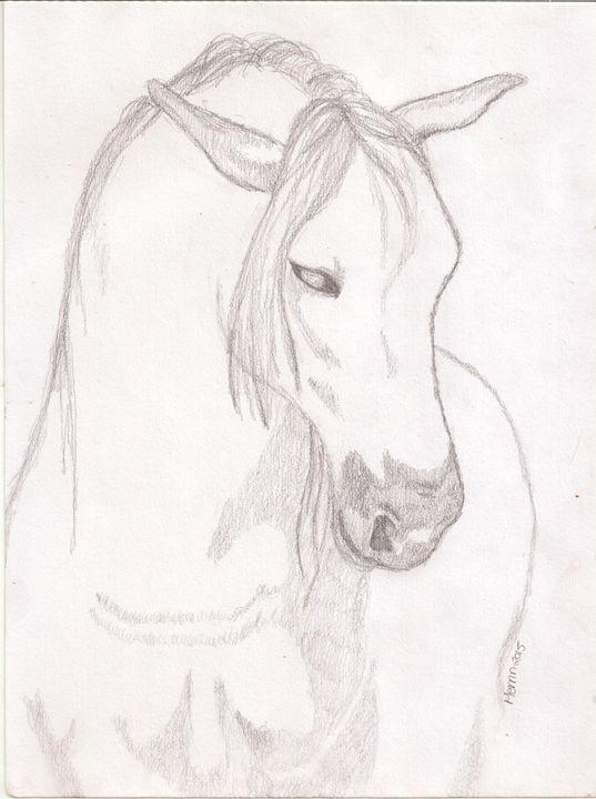 White horse - Merrin's Art