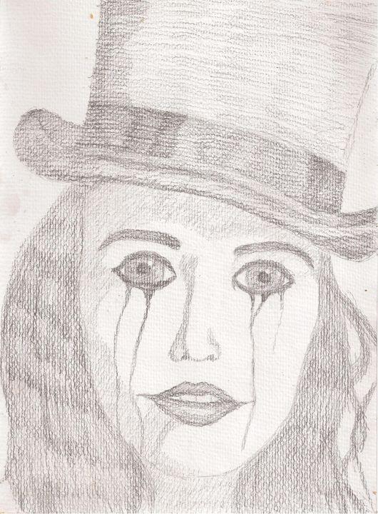 Sad female clown - Merrin's Art