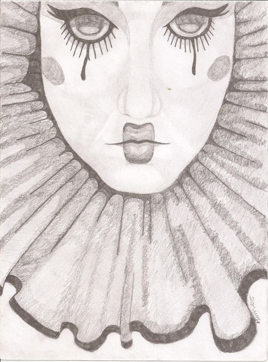 Female clown with collar - Merrin's Art