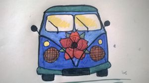 rustic flower bus