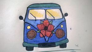 rustic flower bus