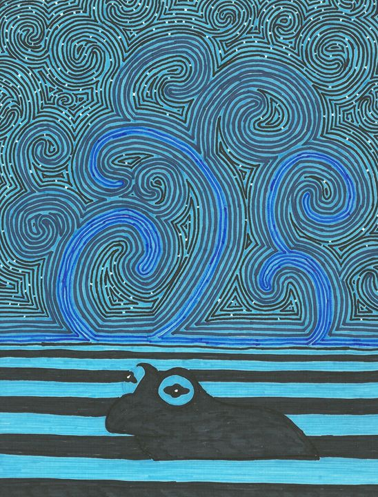 Blue frog - Kevin Van Parys