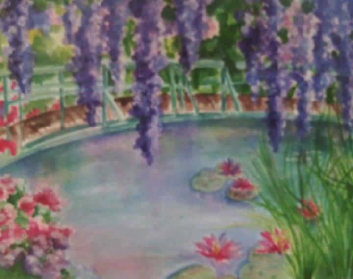 Sister is in Monet's Garden - All Things Bright and Colorful