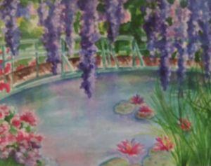 Sister is in Monet's Garden