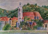 Watercolor of Hamlin , Estonia