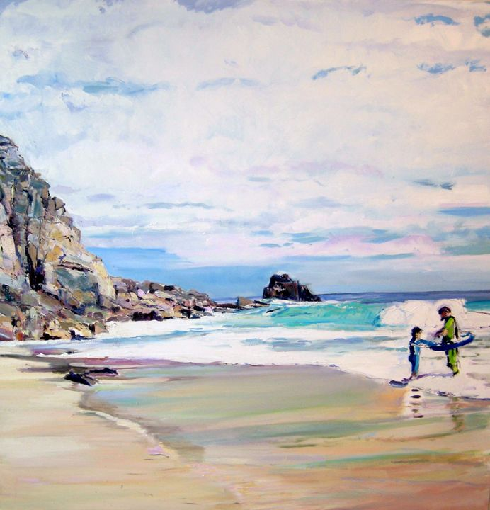 St Levan Bathers - Natascha Snell