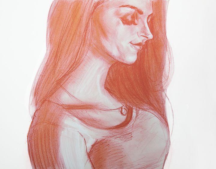 Beautiful woman reading - KL Gallery