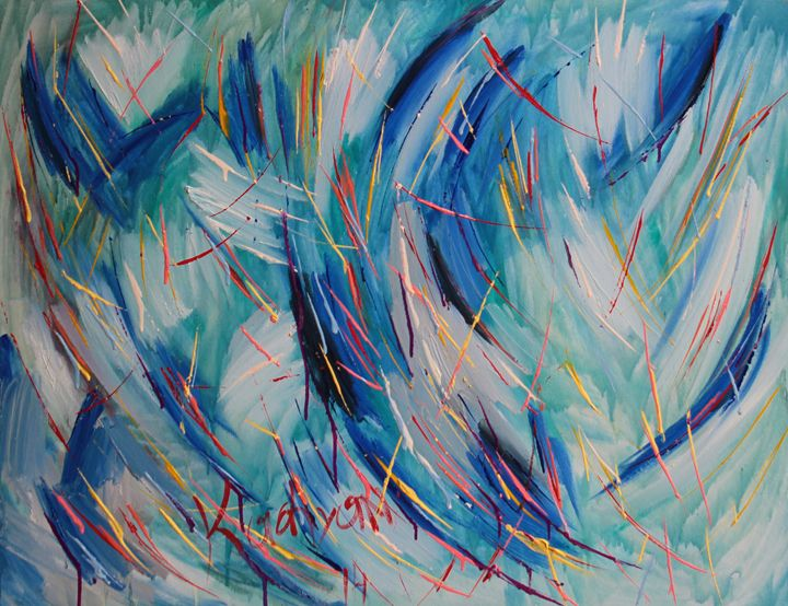 Blue firework -  Gevnona