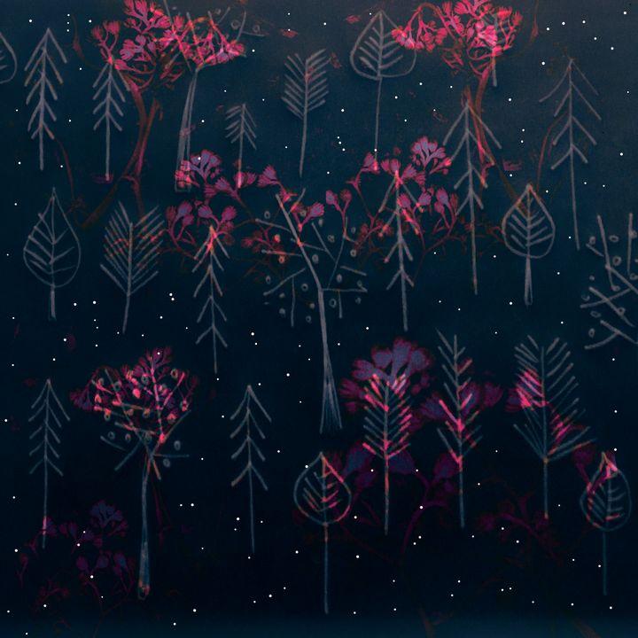 Moonlight trees - The Flying Teacup Art