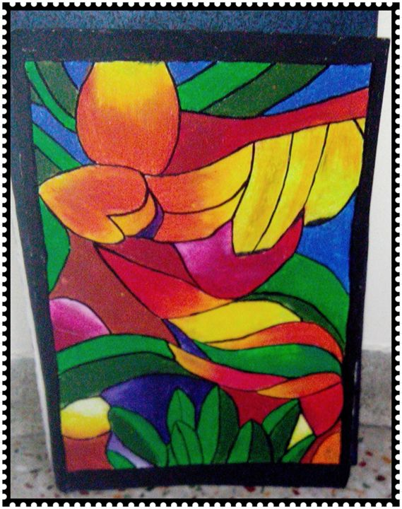 oil pastels abstracts - prachi art gallery