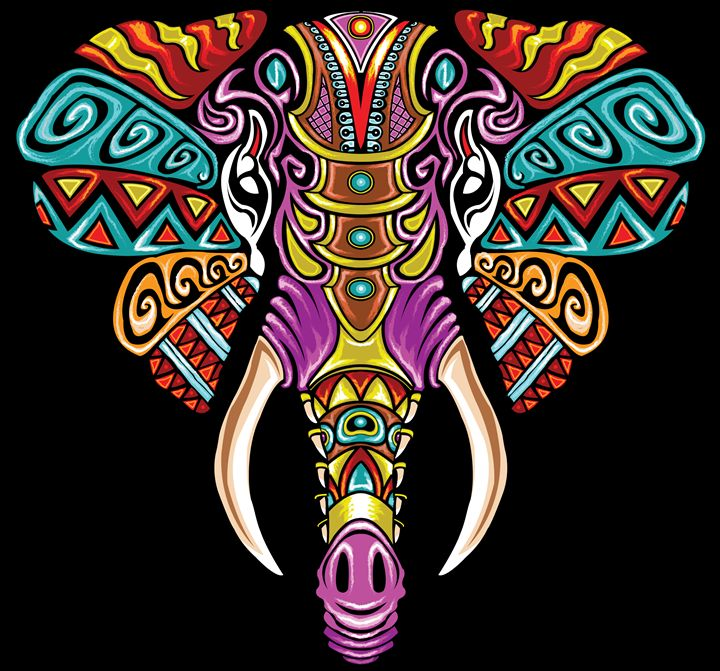 Mosaic Elephant: Rainbow Beast - The Mind Blossom