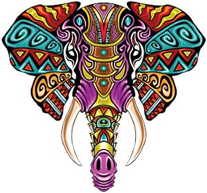 Mosaic Elephant: Rainbow Beast