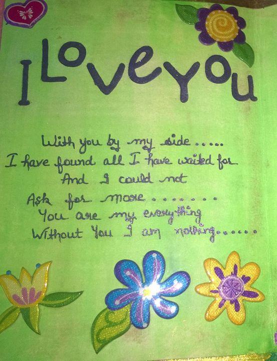 I love you image - Ruchi's creations