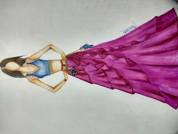 Fashion sketches - Ruchi's creations