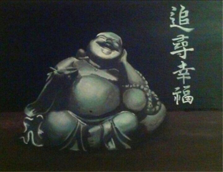 Laughing Buddha - Acrylic Paintings