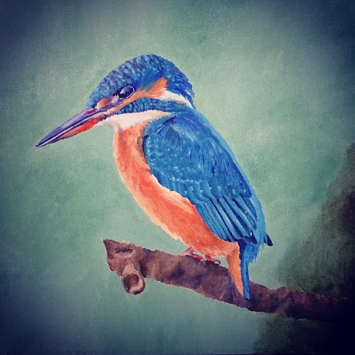 Kingfisher - Acrylic Paintings