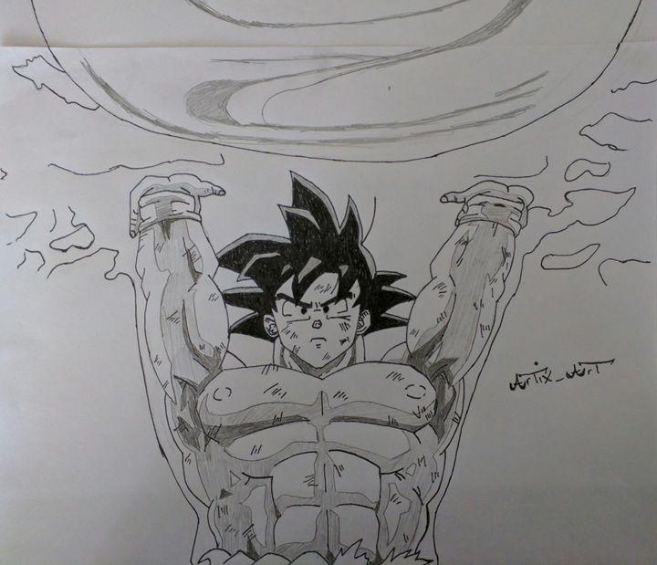 Spirit Bomb Goku Dragon Ball Z - ArtiX_Art