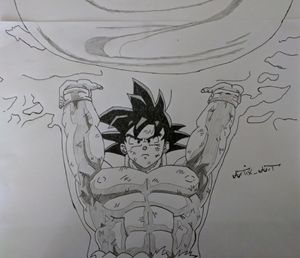 Spirit Bomb Goku Dragon Ball Z