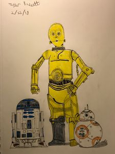 C3PO, R2D2, AND BB8