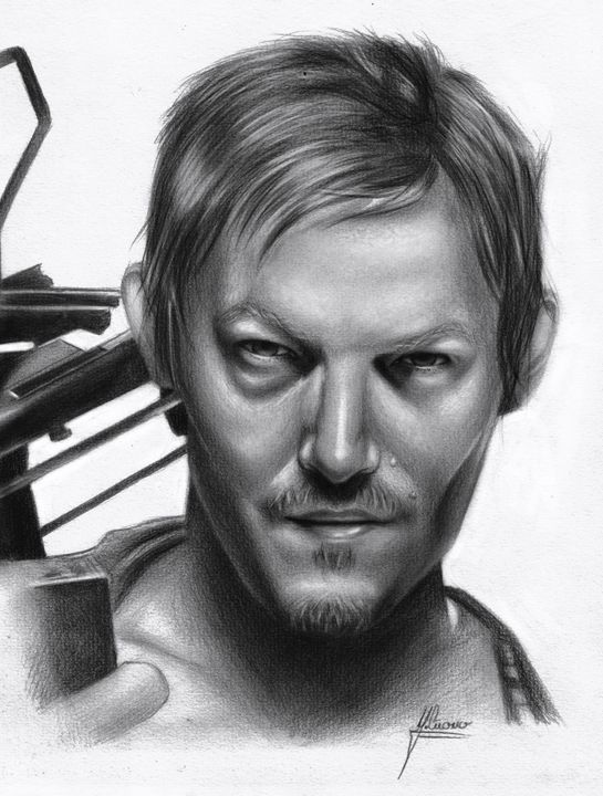 Daryl Dixon of The Walking Dead - Spomo Artwork