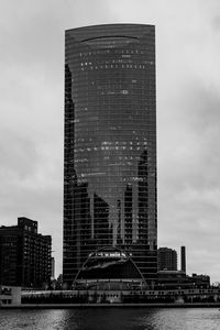 Chicago River Point Building BW