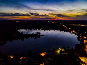 Sunset over Lily Lake
