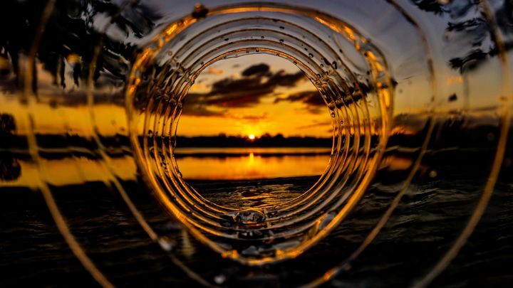 Sunset over the Lake - Dan Dunn   DRD.images