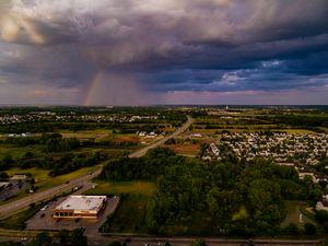 Rainbow after the Rain Aerial