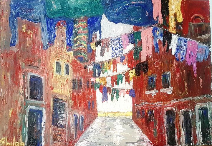 Laundry hanging in Venice Italy 2 - Dan Shiloh