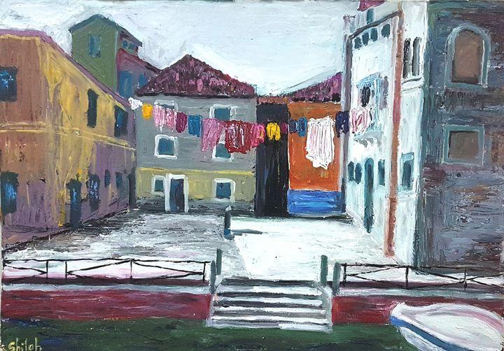 Laundry hanging in Venice - Dan Shiloh