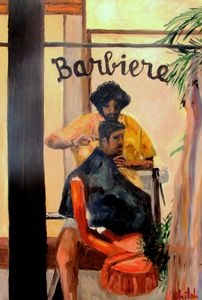 barber in Chianti Italy