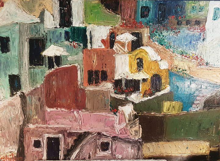 Greek Island village - Dan Shiloh
