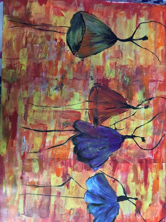 The dancing flowers - SandyPaints