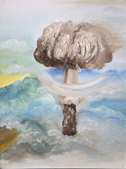 Portrait of the Beloved in Beige - Nuclear Temple by Akermann G.G.