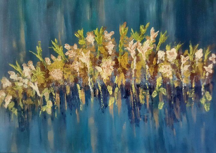 Flowers on water - Tama Ballard