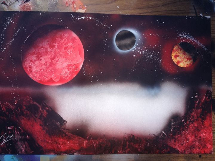 The Trinity - Spraypaint Art