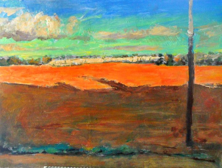 LANDSCAPE FROM TRAIN - Riverview Gallery