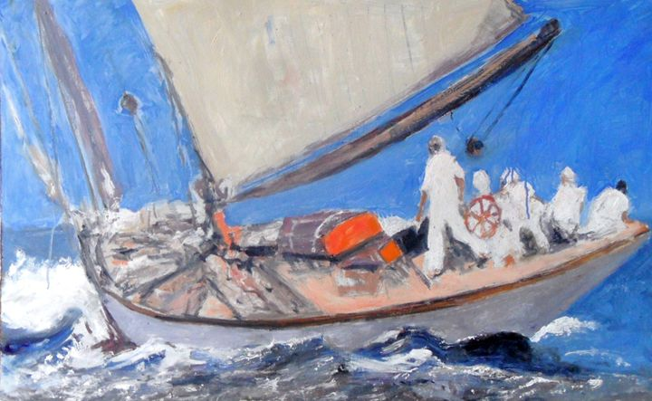 YACHT AT SEA - Riverview Gallery