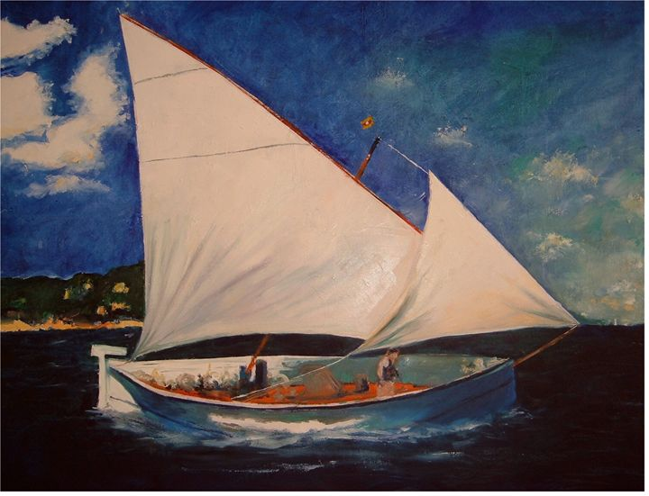 vintage sailing yacht - Riverview Gallery