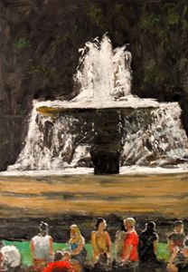 fountain trafalgar square london - Riverview Gallery